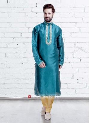 Turquoise Color Kurta Pajama