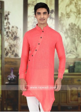 Attractive Coral Color Kurta