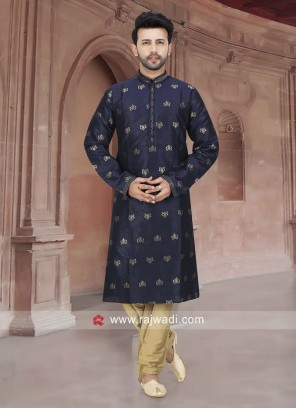 Attractive Navy Kurta Pajama