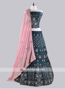 Peacock Blue Lehenga Choli