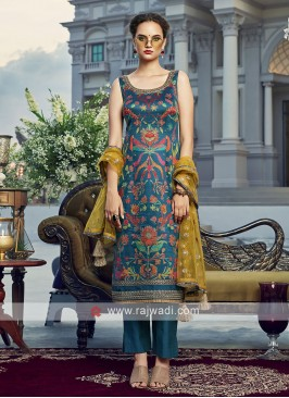 Peacock blue salwar suit