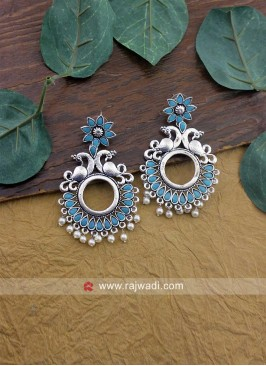 Peacock Motifs Chandbali Dangler Earrings