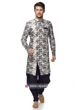 Grey Printed Patiala Suit