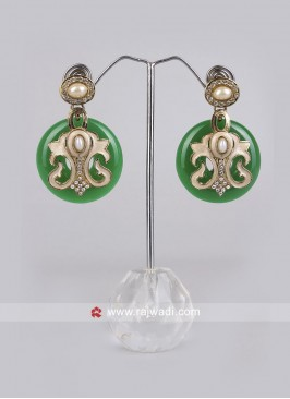 Pearl and Diamond Crafted Earrings