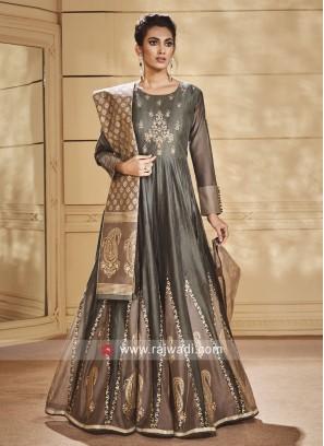 Pearl and Diamond Work Anarkali Suit