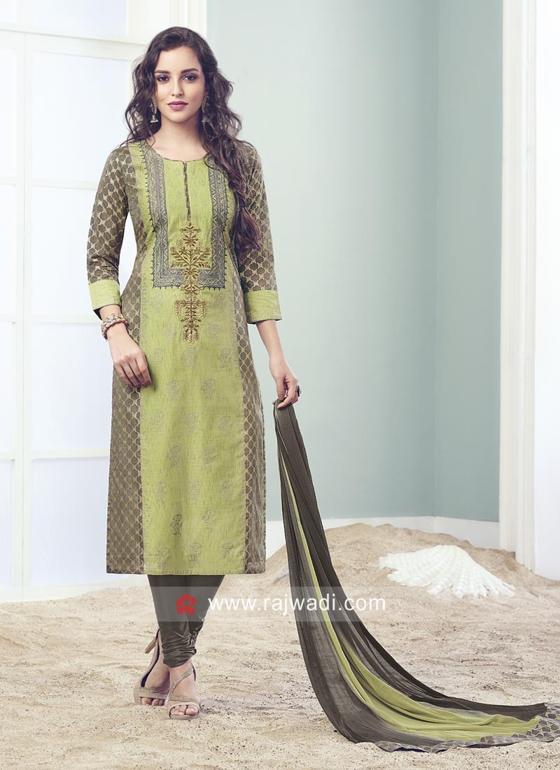 Pearl and Resham Work Salwar Kameez