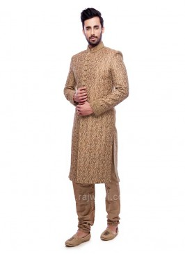 Pearl and Zardozi Work Sherwani