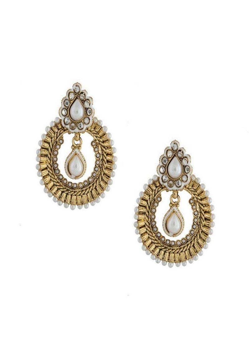 Pearl Chandbali Earrings