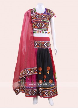 Mirror and Kutchi Work Garba Chaniya Choli