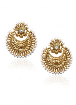 Pearl Delight Golden Earrings