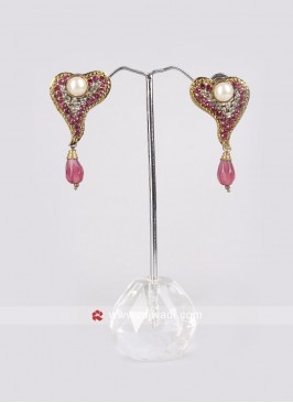 Pearl & Diamond Crafted Earrings
