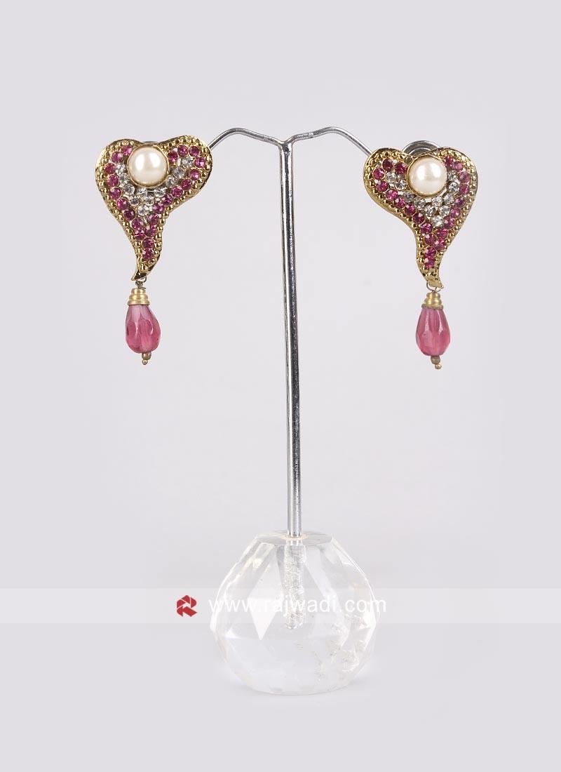 Pearl & Diamond Crafted Earrings