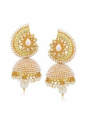 Pearl Drop Jhumki Earrings