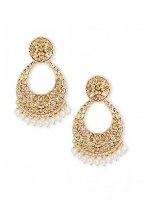 Pearl Drops Chandbali Earrings