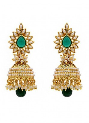 Pearl Fresh Glamour Jhumki Earrings