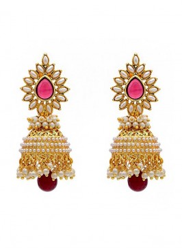 Pearl Glorious  Marsala Jhumki Earrings