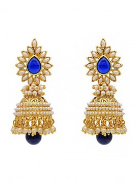 Pearl Glorious  Royal Jhumki Earrings