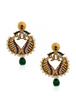 Pearl Green Beauteous Earrings