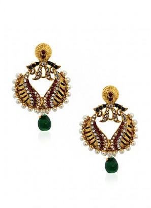 Pearl Green Beauteous Earrings