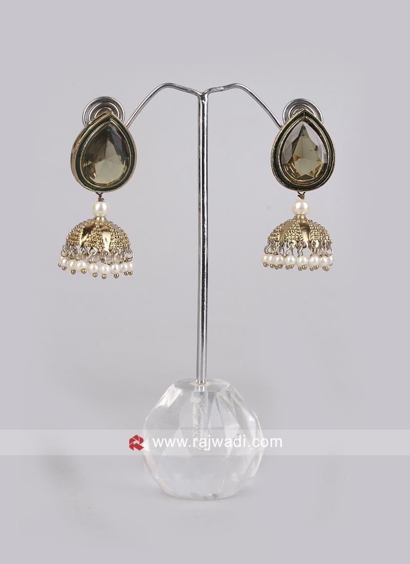 Pearl Jhumki Earrings