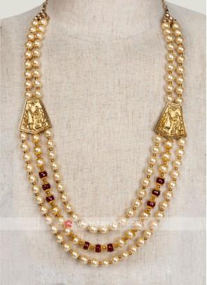 Pearl Mala For Sherwani