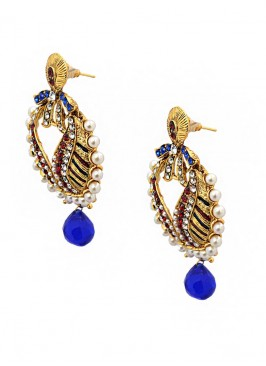 Pearl Royal Blue Beauteous Earrings