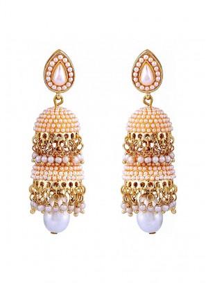 Pearl Traditional Double Layered Jhumki Earrings