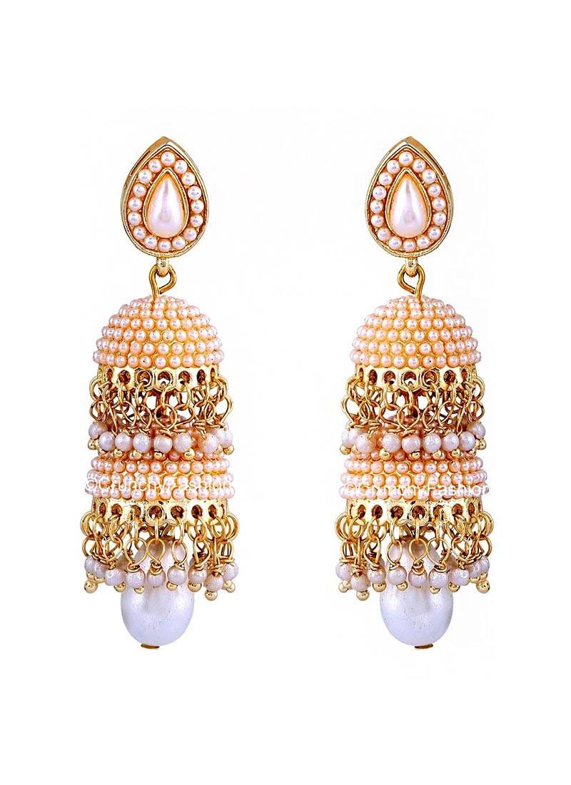 Pearl Traditional Double Layered Jhumki Earrings