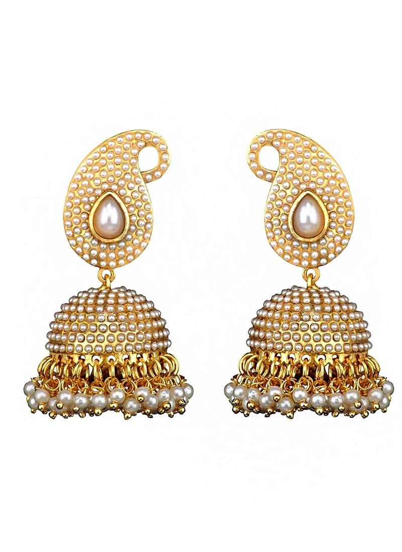 Pearl Traditional Jhumki Earrings