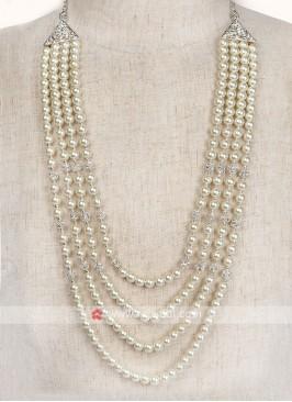 Pearl Work Mala For Dulha