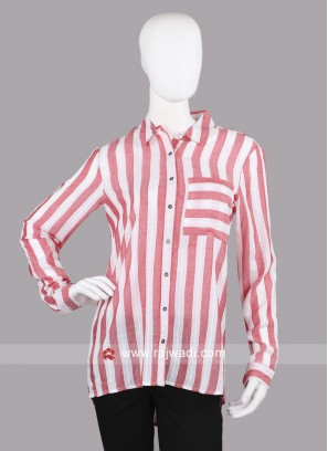 Pepe Red Striped Formal Shirt