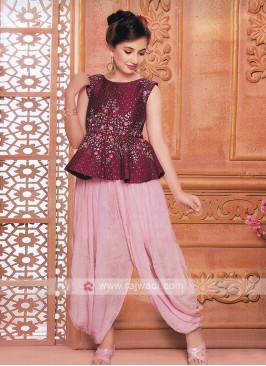 peplum top with patiala