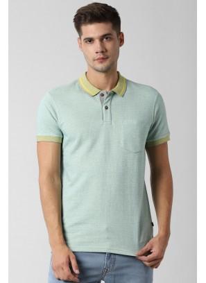 Peter England Green T-Shirt