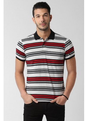 Peter England Grey T-Shirt