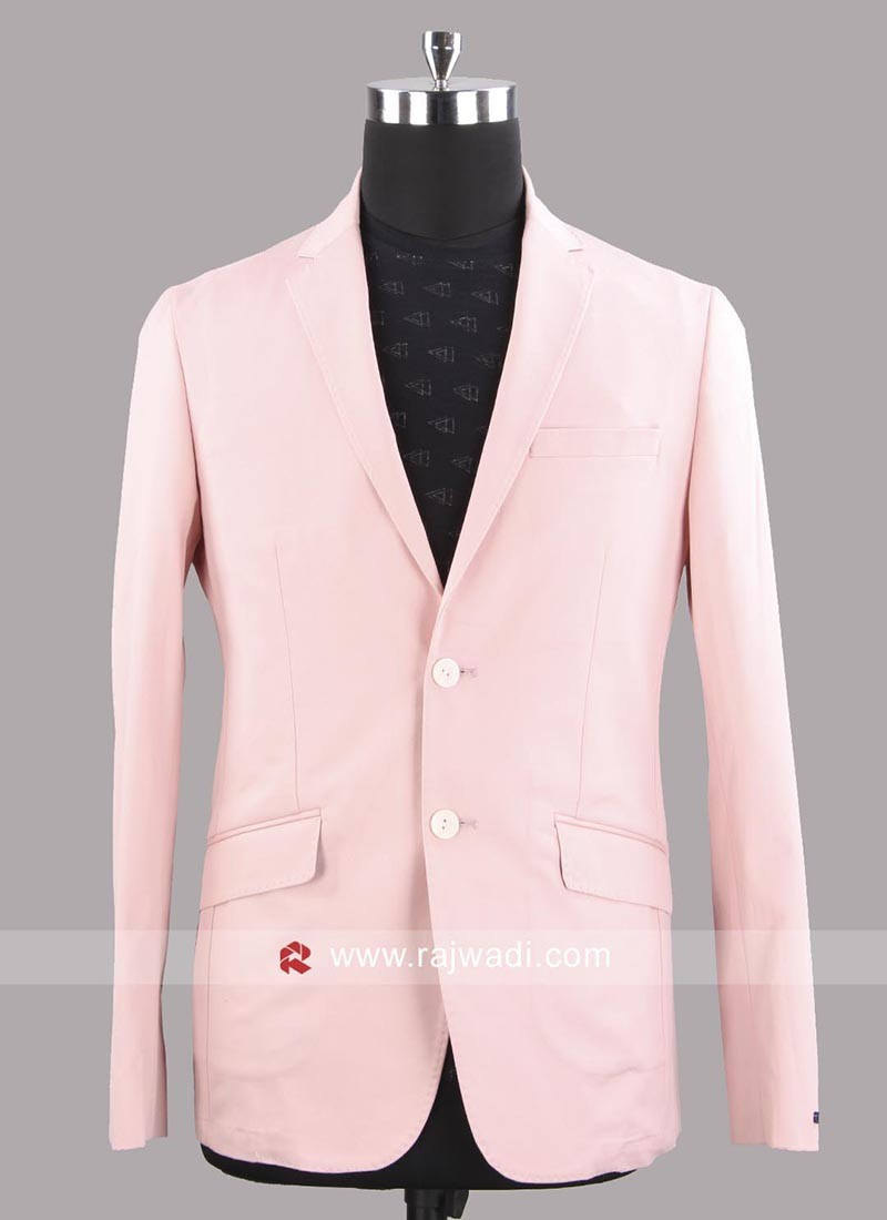 Peter England Slim Fit Pink Color Party Wear Blazer