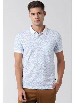 Peter England White T-Shirt