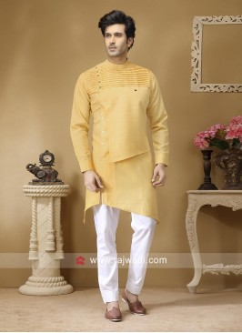 Pineapple Yellow Color Pathani Set