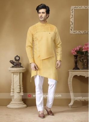 Pineapple Yellow Color Pathani Set