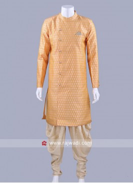 Pineapple Yellow Color Patiala Suit With Side Buttons