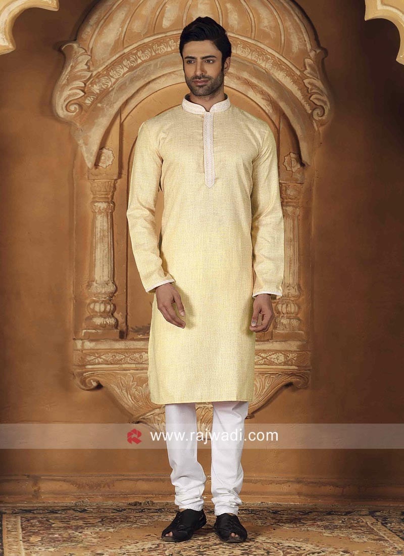 Pineapple Yellow Kurta Pajama