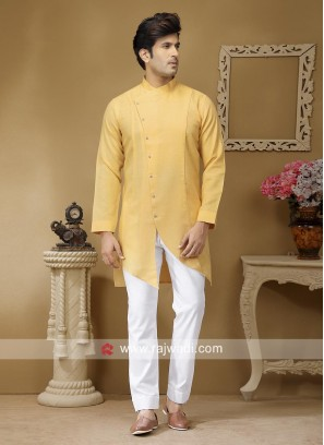 Pineapple Yellow Party Wear Kurta Set