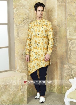 Pineapple Yellow Pathani Suit