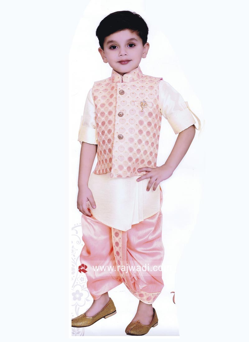 Pink and Cream Color Indo Western