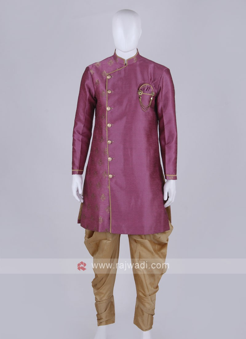 pink and golden Patiala Suit
