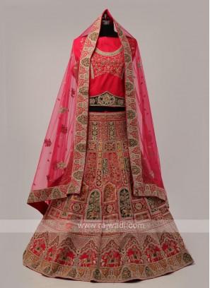 Pink And Multi Color Lehenga Choli