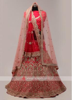 Pink Bridal Lehenga Choli