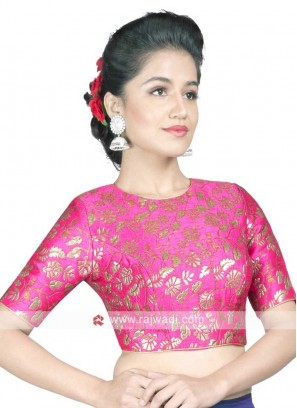 Pink Brocade Ready Blouse