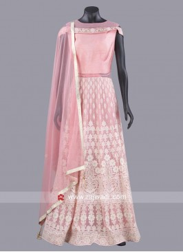 Pink Chiffon Designer Anarkali Dress