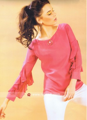 Pink Chiffon Top