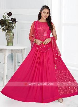 Pink Color Anarkali Suit